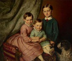 Josef Mánes, Podobizna dětí advokáta Haušilda, 1851 - Národní galerie v Praze