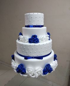 60 Gorgeous Romantic Wedding Cake Ideas in 2020 ~ Royal Blue Cake, Royal Blue Wedding Cakes, Unique Wedding Colors, Wedding Color Pallet, Quince Cakes, Quinceanera Cakes, Blue Cakes, Wedding Cake Designs, Beautiful Cakes