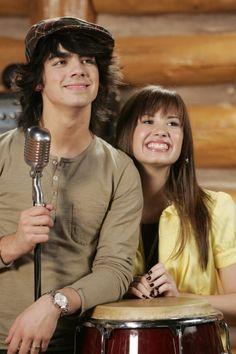 Still of Demi Lovato and Joe Jonas in Camp Rock (2008)