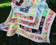 fun scrappy quilt idea
