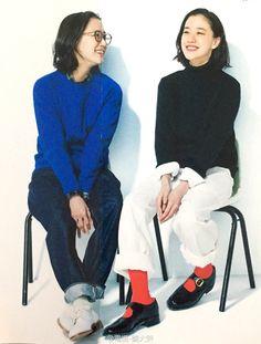 Yu Aoi Preppy Mode, Preppy Style, My Style, Japan Fashion, Daily Fashion, Fashion Fashion, Librarian Style, Winter Stil, Minimal Fashion