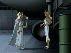 JL's Hippolyta and Aresa talk