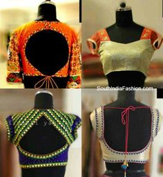 Saree Blouse Design Ideas - Browse here for latest Designer Blouse Designs, Back Neck Designs, Blouse Designs for Silk Sarees, Plain Sarees and much more. Choli Blouse Design, Choli Designs, Sari Blouse Designs, Dress Designs, Blouse Styles, Indian Fashion Trends, India Fashion, Woman Fashion, Dress Fashion