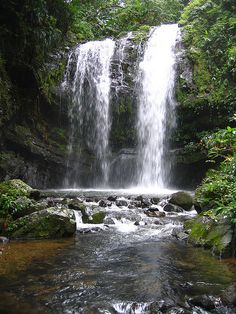 waterfall on an unnamed tributary of the rio cialitos municipio de ciales puerto rico 1 Vacation Places, Dream Vacations, Vacation Spots, Places To Travel, Places To See, Beautiful Waterfalls, Beautiful Landscapes, Beautiful Islands, Beautiful Places