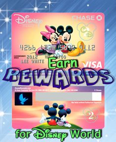 Earn Rewards For Disney World with Disney Visa by Chase . The new Disney Premier Visa Card now earns you 2% in reward dollars on card purchases at gas stations, grocery stores, restaurants and most Disney locations. You will still earn 1% on everything else.