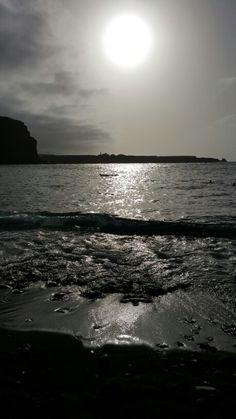 Sunset in a fantastic grea beach