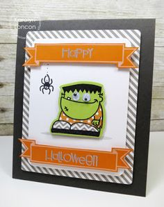 Card by PS DT Karolyn Loncon using the PS Fascinators and Halloweenies stamp sets along with the Halloweenies die