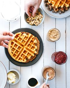 Waffle Party. This would be so much fun to do when family is in town, or perhaps for a morning baby shower.