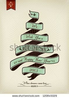 Vintage Christmas Background Flag With Typography by Invisible Studio, via ShutterStock