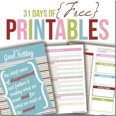 31 Days of Free Printables