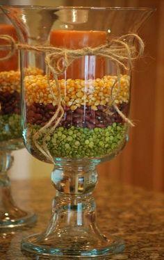 Ideas fáciles para centros de mesa de otoño