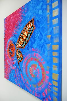 colorful cool paintings gallery in laelanie art gallery Abstract Art For Sale, Original Paintings For Sale, Wall Art For Sale, Happy Paintings, Colorful Paintings, Cool Paintings, Butterfly Artwork, Butterfly Painting, Painting Gallery