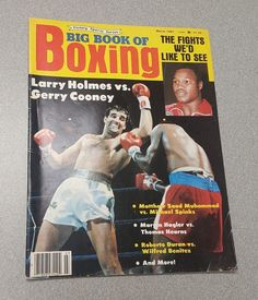 Gerry Cooney Big Book of Boxing 1981 ARGUELLO * DURAN * Jim Watt Sonny Liston