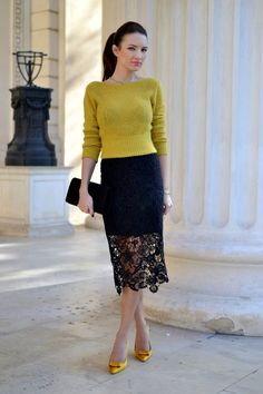 Hi, guys!   I've been wearing this mustard yellow cardigan quite a lot, lately and this time   I'm showing you two ways to dress ...
