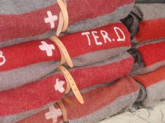 Swiss army blankets found in mountain huts