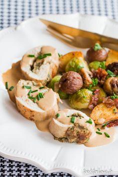 Ballotine de Volaille aux Champignons et à la purée de Châtaigne, Poêlée de Noël - Food for Love