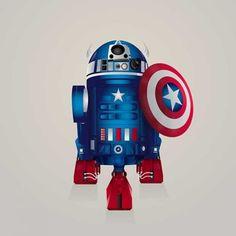 Iconic Star Wars droid portrayed as several Marvel & DC Comics superheroes by London-based artist Steve Berrington. Dc Comics, Marvel Cartoons, Batman, Superman, Gandalf, Marvel Dc, Disney Marvel, Marvel Heroes, Star Wars Droides