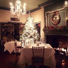 The Olde Pink House is elegant and festive this time of year!