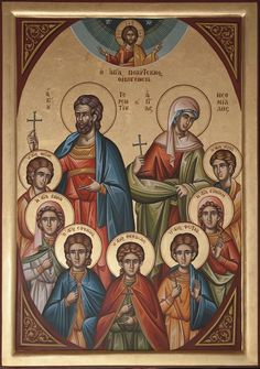 Saints and Feasts of October 28 Byzantine Art, Byzantine Icons, Religious Paintings, Religious Art, Holy Family, Orthodox Icons, Christianity, Book Art, Spirituality