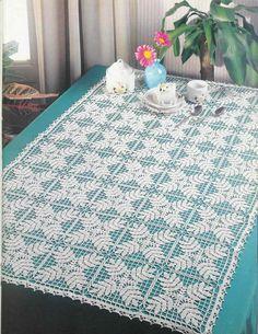 Magic Crochet Nº 83 - claudia - Picasa Web Albums Thread Crochet, Filet Crochet, Crochet Stitches, Knit Crochet, Crochet Table Runner, Crochet Tablecloth, Crochet Motif Patterns, Crochet Designs, Crochet Dollies