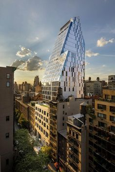 FXFOWLE Architects mixes residential units with academic residences in a sculptural tower in New York