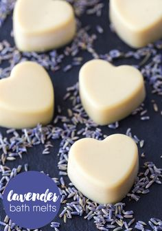 Relax in a bath with the soothing scent of lavender! This DIY beauty recipe for Lavender Bath Melts is only three ingredients and makes a wonderful gift.