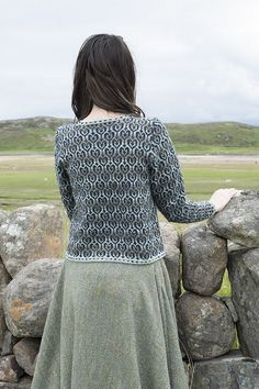 Loch Lomond cardigan design patterncard kit by Jade Starmore in Hebridean 2 Ply Cardigan Design, City Folk, The Loch, Loch Lomond, Card Patterns, Heart Shapes, 2 Ply, Sequin Skirt, Turtle Neck