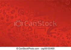 2018 World Cup Russia Football Abstract soccer background red color, fifa 2018 dynamic modern design pattern, soccer wallpaper with soccer symbols, sports award, soccer ball, Russian folk art elements.