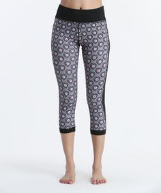 Look at this #zulilyfind! Gray Floral Heart Lucky You Capri Leggings by Just Cleave #zulilyfinds