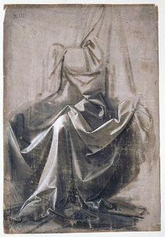 Drapery Study, da Vinci
