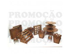 Kit Provençal Desmontado MDF - 13 peças - Mod. estrela