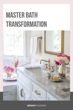 If you're looking for master bathroom makeover ideas, this remodel with before and after pics will inspire you to upgrade to a new bathroom. -----> #bathroomrenovations #bathroomideas #bathroomdesigns #bathroomremodel #bathroommakeovers #bathroomupdates #whitebathroom #designthusiasm Next Bathroom, Diy Bathroom Decor, Bathroom Ideas, Bedroom Decor, Modern French Country, French Country Decorating, Gothic Home Decor, Elegant Homes, Beautiful Bathrooms