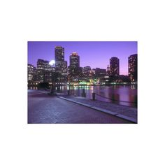 Nighttime Boston, Massachusetts Photographic Wall Art Print ($35) ❤ liked on Polyvore featuring home, home decor, wall art, photography wall art, home wall decor, mounted wall art and interior wall decor