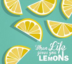 lemon illustration - when life gives you lemons