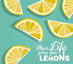 lemon illustration - when life gives you lemons