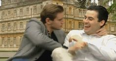 Rob James-Collier and Allen Leech gif | Rob James-Collier and Allen Leech[x] [x]