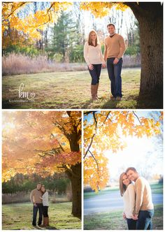 fall trees - engagement photography
