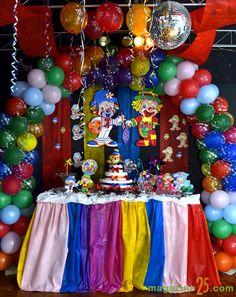 Decoração de Festa Patati Patatá #decoracao #decoration #patatipatata #palhaços #clowns #colorido #colorful #festa #party