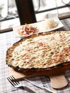 La tarte flambée d'Alsace - Flammekueche #alsace #gastronomie #food