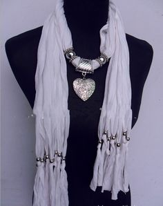 Cheap Multicolored Scarves with Silver Pendant Accessories Whole