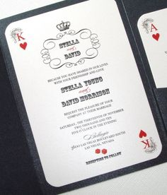 Loved our Las Vegas wedding invites!