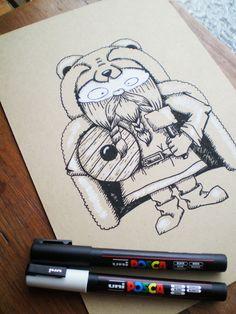 viking. ilustración sobre madera