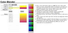 Colour palette gradient generator website