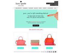 Kate Spade shopping cart email