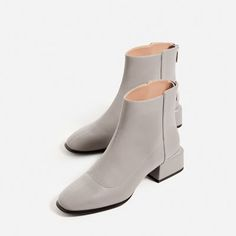 1f34e26b63054 SQUARE HEEL ANKLE BOOTS - SHOES AND BAGS-SALE-WOMAN