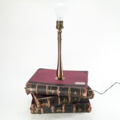 Old Book Lamp Stand