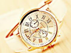 SYLT - Armbanduhr pastell Uhr beige rosegold gold von Kleines Karma - Natur & Trend Schmuck, Ketten & Colliers, Uhren &  Accessoires aus Berlin auf DaWanda.com