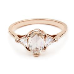 Anna Sheffield Rose Gold Engagement Ring: Anne Sheffield Oval Bea Ring ($5,000) Photo courtesy of Anna Sheffield