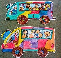 dopravní výchova, dopravní prostředky, pojedeme na výlet School Art Projects, Art School, Diy And Crafts, Arts And Crafts, Step By Step Drawing, Art For Kids, Pop Art, Education, Children