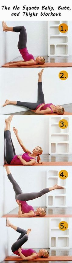 The No Squats Belly, Butt, and Thighs Workout Good alternative when my heel is hurting